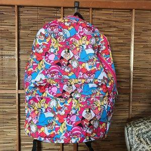 Alice in Wonderland characters Disney backpack